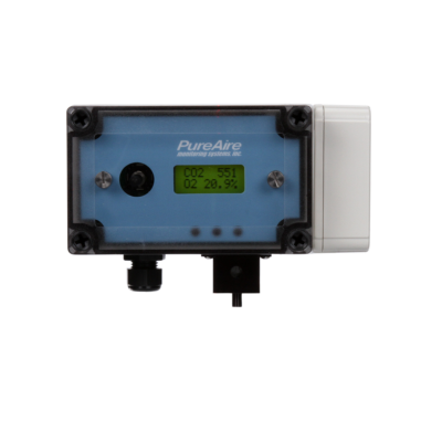 PureAire Dual O2/CO2 monitor view